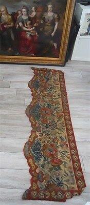 Valance pelmet tapestry French antique needlpoint 19th-cent for canopy windows