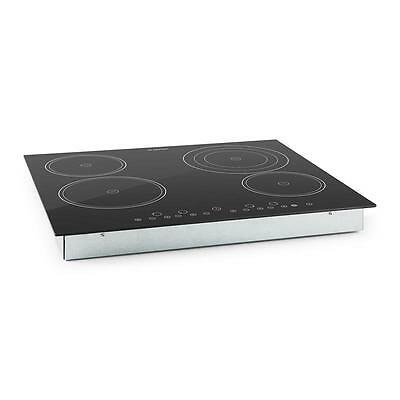 Klarstein 4 Ceramic Glass Hob 6500W 59 X 52 Cm Built-In Oven Cooker Hot Plate