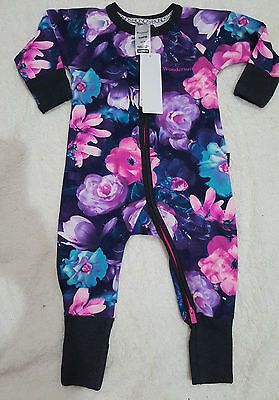 BONDS GYPSET BLOOMS Zippy Wondersuit Black  BNWT size 0000