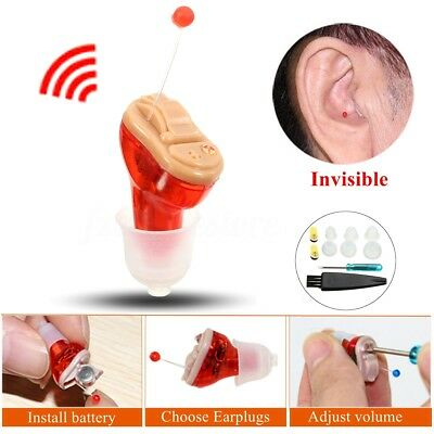 Digital Invisible In Ear Hearing Aids Small Sound Amplifier Enhancer Rechargeble