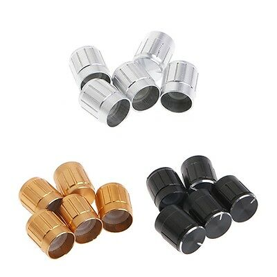 5Pcs Aluminum Potentiometer Knob 6mm Cap Inner Volume Control Rotary Switch Hot