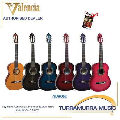 Valencia TC11 1/4 Size Classical Nylon Acoustic Guitar with Online Lessons!