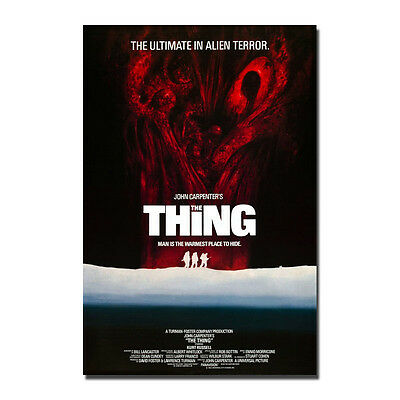 THE THING 1982 Horror Classic Movie Art Silk Poster Print 12x18 24x36 inches
