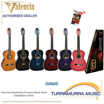 Valencia TC13 3/4 Size Classical Nylon Acoustic Guitar with Online Lessons!