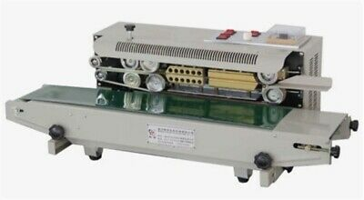 Automatic Continuous Plastic Bag Band Sealing Machine W/ Date Code Sealer 220 gg
