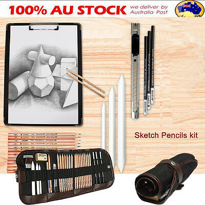 18x Charcoal Pencils Sketch Artist For Drawing Sketching Shading Art Craft Set
