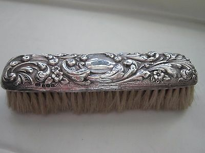Silver backed clothes brush hallmarked 1922