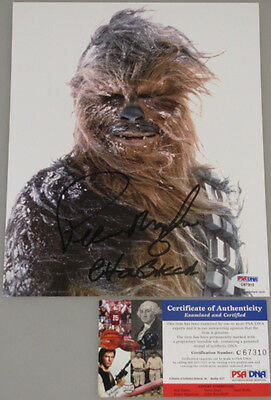 "STAR WARS CHEWBACCA  PETER MAYHEW Hand Signed 8""x10"" Photo + PSA DNA COA"