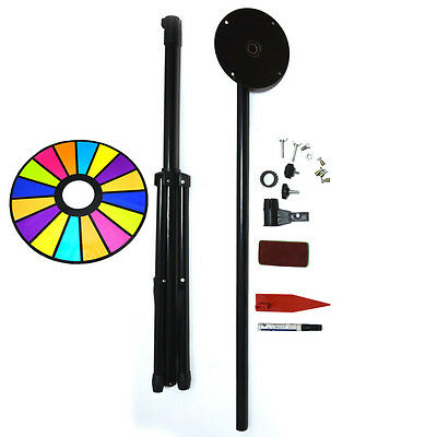 Prize Wheel Dia 60cm Editable Dry Erase Color Fortune Spinning Game Floor Stand
