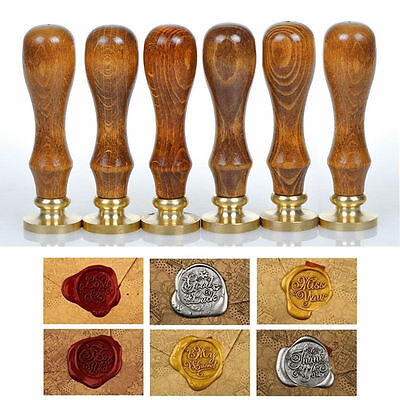 Retro Greetings Sealing Wax Classic Initial Wax Seal Stamp Alphabet Letter Wood