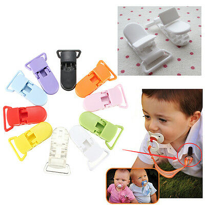 10X DIY Baby Resin T Type Buckle Soother Pacifier Dummy Holder Badge Craft Clips