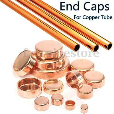 3Pcs Copper Pipe Tube Stop End Feed Caps Plumbing Fittings Refrigeration 10-67mm