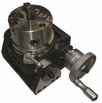 "Rdgtools New 4"" Tilting Rotary Table With 100Mm 4"" 3 Jaw Lathe Chuck Engineering"