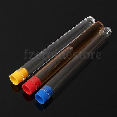 10/20/50X Plastic Test Tubes Vial Container Complete with Push Caps 3/5/10/20ml