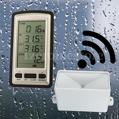 Wireless Weather Station 3Sensor Digital Rain Gauge Humidity Indoor Outdoor Temp