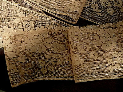 Antique Collectable Dentelle Valenciennes 1930,s French Lace Trim  3 Yards