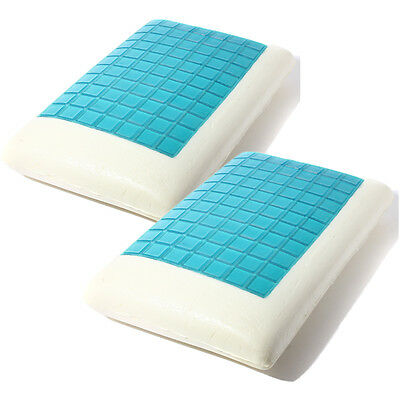 Memory Foam Pillow Cooling Comfort Gel Orthopedic Aid Pad Firm Head Neck Support