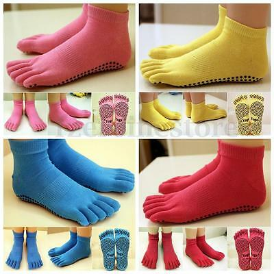 Yoga Socks Non Slip Pilates Massage 5 Toe Socks with Full Grip Exercise Gym