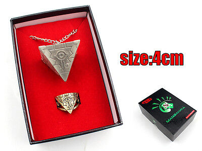 Yu-Gi-Oh! 3D Millenium Puzzle Necklace & Ring Set With Box