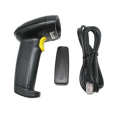 2.4GHZ Wireless USB Laser Bar Code Scanner Reader Barcode Black Win XP 7 8 10 UK