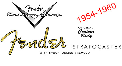 Fender Waterslide Decal, various styles Inc vintage and relic'd
