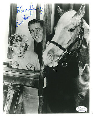 """(SSG) ALAN YOUNG & CONNIE HINES Signed 8X10 """"Mister Ed"""" Photo with a JSA COA"""