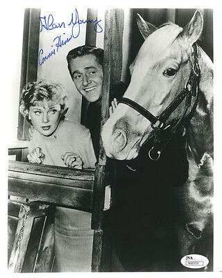 "(SSG) Rare ALAN YOUNG & CONNIE HINES Signed 8X10 ""Mister Ed"" Photo - JSA COA"