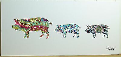 Liberty Of London Fabric Pig Family Silhouette Picture 2971