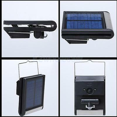 Solar Power Wall Mounted Light Outdoor Garden Fence Shed LED Auto On/Off