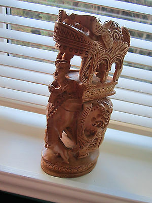 Unusual Indian Wooden Carving
