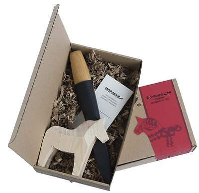 *NEW* Woodcarving Knife Kit 120/with Pouch & Wooden Horse/By Mora of Sweden