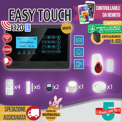 Kit Antifurto Casa Allarme Touch Screen Combinatore Gsm Wireless Easytouch320L