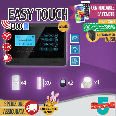 Kit Antifurto Casa Allarme Touch Screen Combinatore Gsm Wireless Easytouch300L
