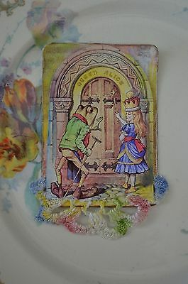 Queen Alice -  A Mixed Media Altered Playing Card Aceo