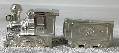 silver train christening gift -money box, first tooth, first curl