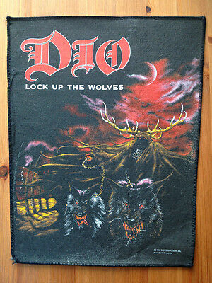 Dio - Lock Up The Wolves 1990 back patch Rare