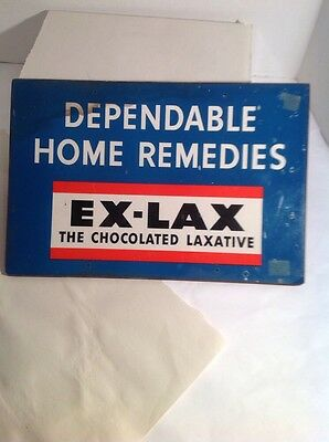"Vintage Ex-Lax Chocolate Laxative Drug Store 15"" Sign"