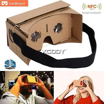Google Cardboard 3D Glass VR Virtual Reality Headset For iPhone 5S 6S Samsung S7