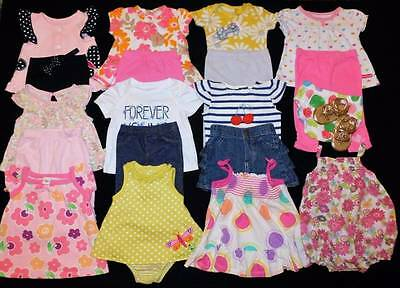 22 Pc. Baby Girl 0/3 Months Summer Outfits Shoes Clothes Lot