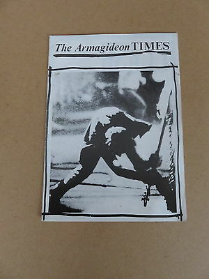 THE CLASH The Armagideon Times 1ST ISSUE 1980 UK ORIGINAL 16 TONS TOUR PROGRAMME