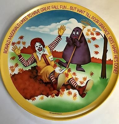 "1977 Ronald McDonald Kids Plate 10"" Plastic Plate from McDonalds"