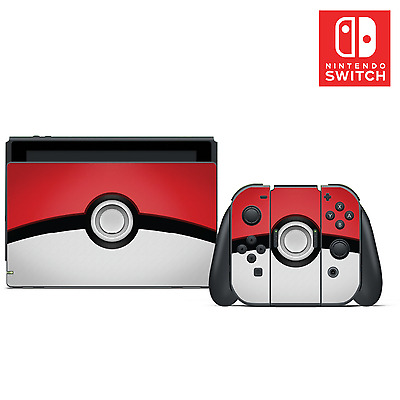 Pokémon Pokeball Vinyl Skin Sticker Set for Nintendo Switch