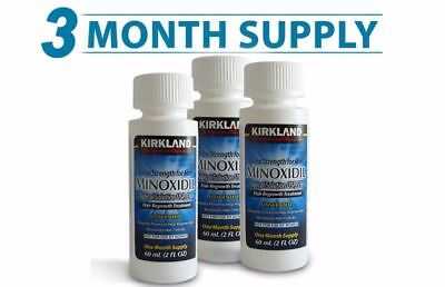 Kirkland Minoxidil Solution 5% Hair Loss Regrowth Uk Stock - 3 Month + Pipette