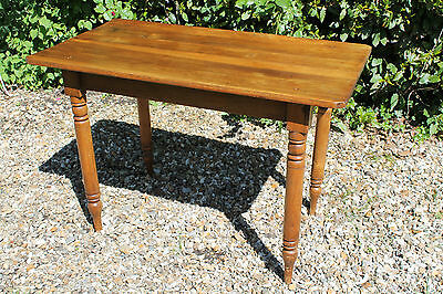 19th century fruitwood small kitchen table (or side table)