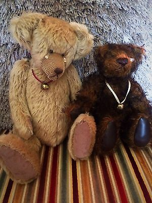 Antique Hand Made Mohair Teddy Bears by Butlers Bears With Tags