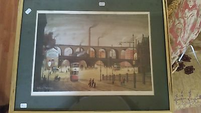 Arthur Delaney Signed Limited Edition Print Stockport Viaduct rare and popular