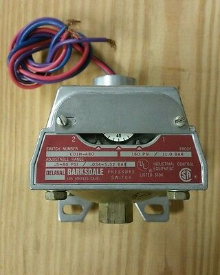 New IMO Barksdale Controls Pressure Switch CD1H-A80; 160 psi, NOS no box
