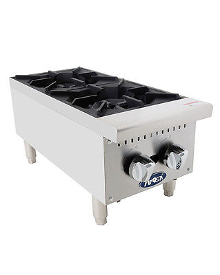 Atosa ATHP-12-2 Commercial HD 2 Burner Hot Plate Natural Gas or Propane