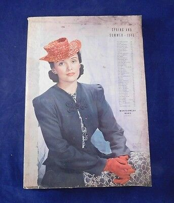 1940 Montgomery Ward Spring & Summer Catalog Vintage Fashion