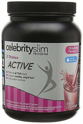 Celebrity Slim Active Shake 840g (7 Day-21 Shakes) - Strawberry